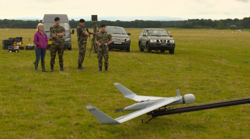 Drones - Defence Forces - Kathriona and Drone Launch